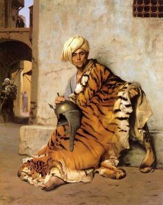 Sarazene, Pelzhändler in Cairo, 1869, Ölbild von Jean-Léon Gérome