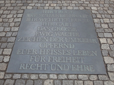 Gedenktafel für den deutschen Widerstand im Dritten Reich; @Andreas Willfahrt / pixelio.de