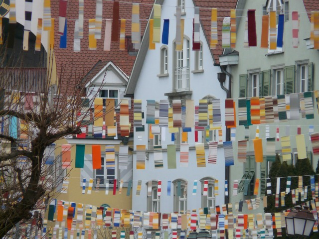 Trophies on Fat Thursday: all the men's ties cut and put on clothlines in the streets of the town. Copyright (c) Hans / pixabay.de