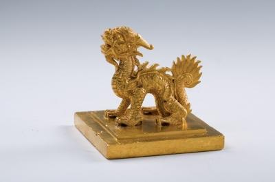 Das Siegel des Kaisers Minh Mang ist aus purem Gold und wiegt knapp 5 kg (1827), Copyright: LWL-Museum für Archäologie/Binh