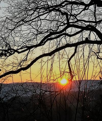 Sonnenaufgang2 im Februar 2018 bei Minus 8 Grad