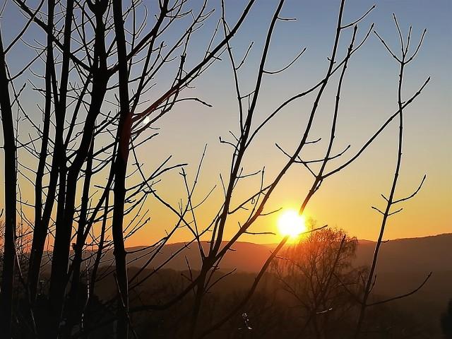 Sonnenaufgang5 im Februar 2018 bei Minus 8 Grad